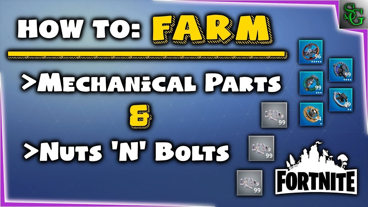 Fortnite Mechanical Parts Guide - u4gm com