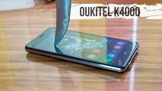 Oukitel K4000. Распаковка, первый взгляд, резка телефона ножом.