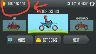 How to get unlimited coin in Hill climb Racing game.  without Rooting.....