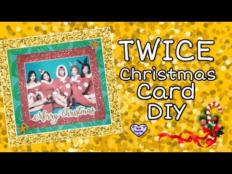 TWICE Christmas Card DIY // CHRISTMAS DIY // KPOP DIY
