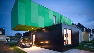 Дом с контейнеров ( с троих ). Дизайн дома построеного с контейнеров.(Дизайн дома построеного с контейнеров. Дом построен с контейнеров., 2015-03-17T17:23:00.000Z)