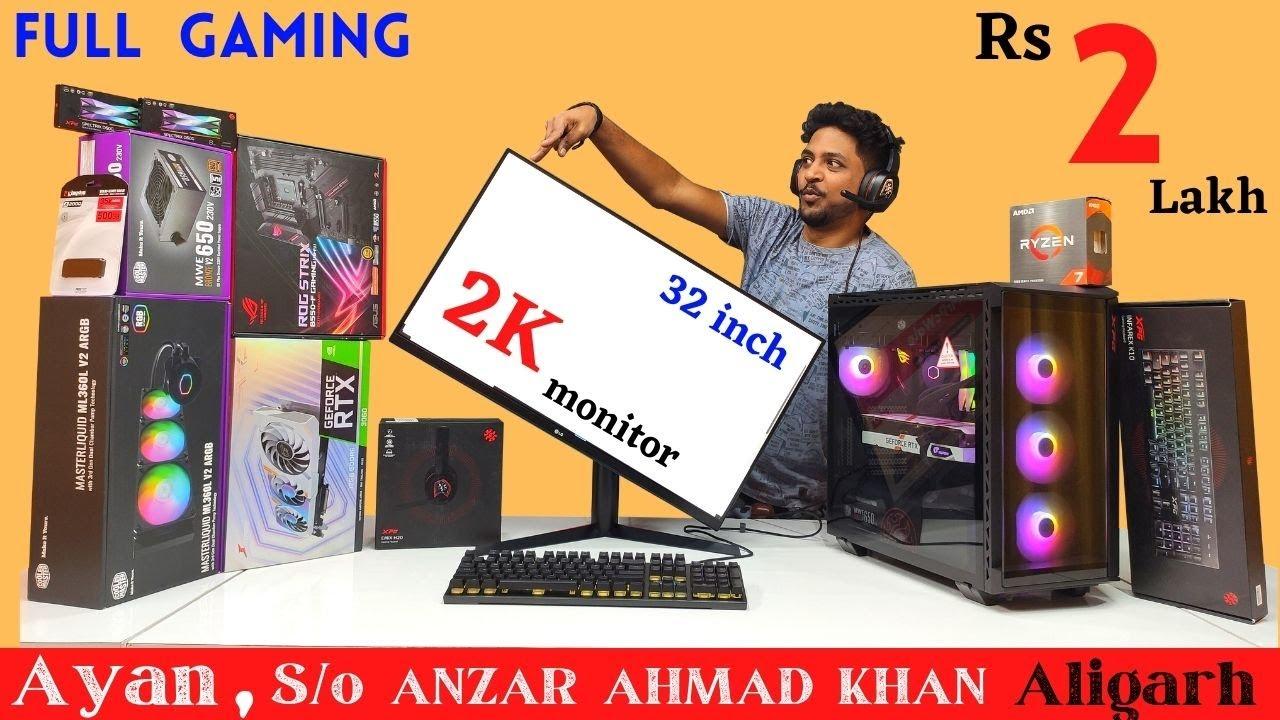 Rs 2 Lakh Full Gaming PC Build   RTX 3060   ROG Strix   2K Monitor   Mr Pc Wale