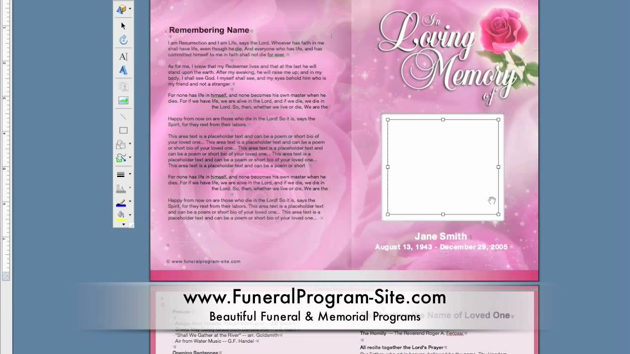 Funeral Programs And Funeral Program Designs