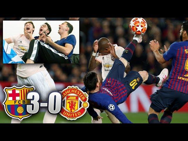 Barça 3-0 Manchester United REACCIONES DE BARCELONISTAS