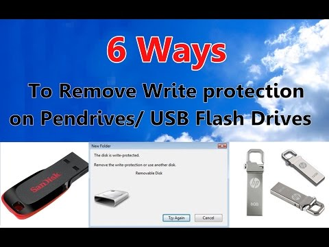 6 Ways to Remove Write Protection on Pendrives/USB flash drives - Latest Troubleshooting Methods