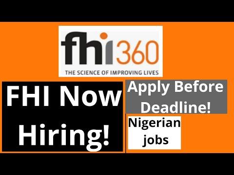 Ngo Jobs In Nigeria Fhi 360 2019 Recruitment Youtube
