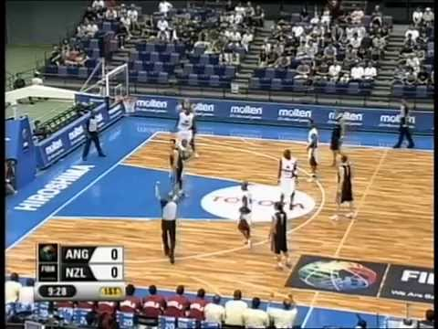 2006 FIBA World Champs Tall Blacks vs Angola - Group B - 21st August