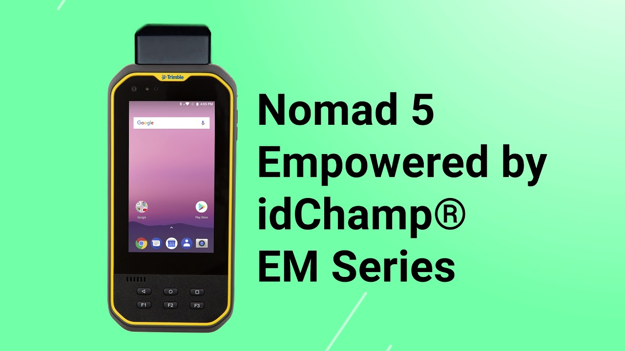 Empower NFC-RFID Reader (PROX | Seos | iClass | BLE | More) for Trimble  Nomad 5