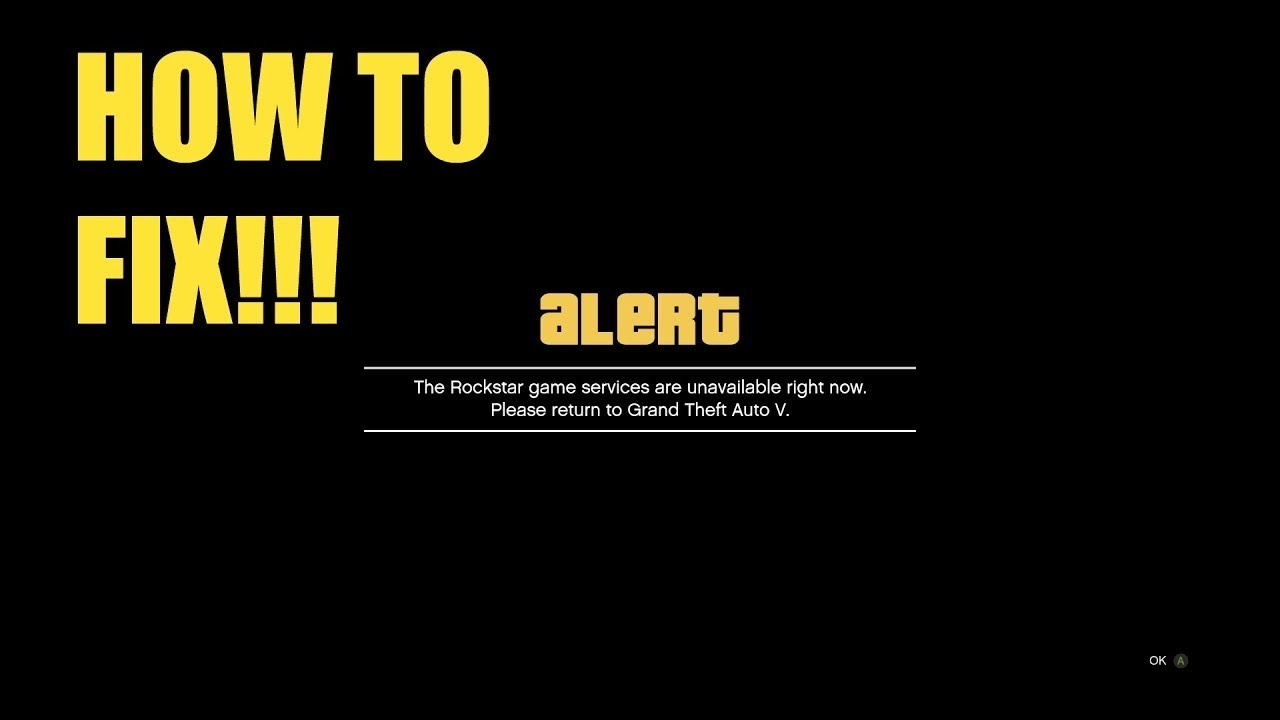 GTA 5 How to fix the Rockstar Servers are unavailable
