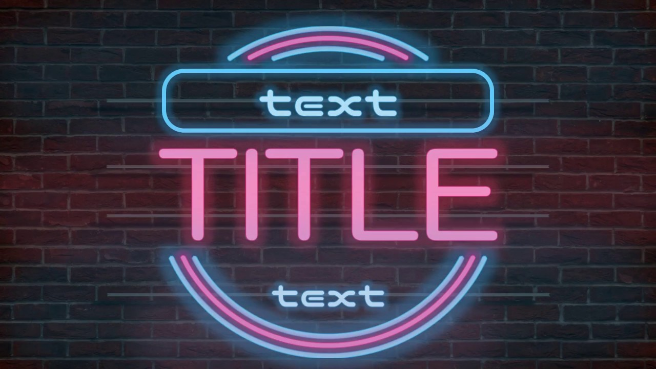 Neon Light Animated Powerpoint Title Slide Template Free