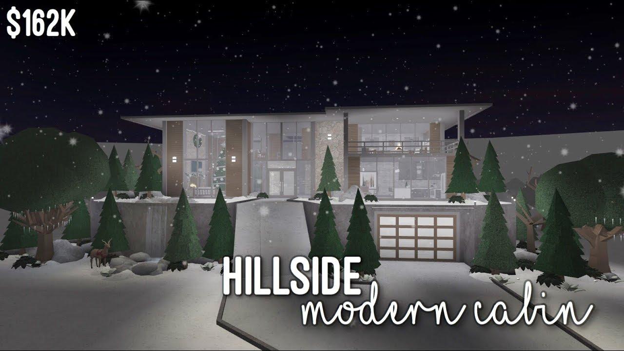 Bloxburg Hillside Modern Cabin By Pastel Soph