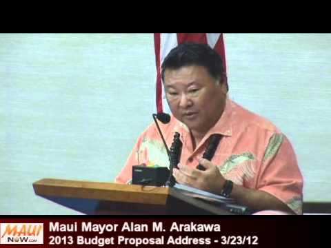 Maui Mayor Alan Arakawa