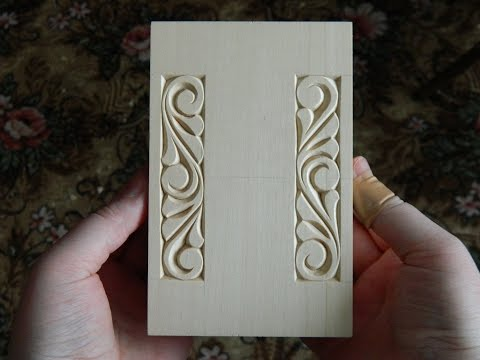 A mix of chip carving and relief carving