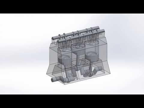 Base engine animation