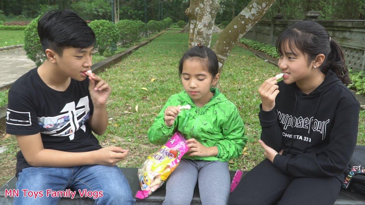 Ăn Bánh Kem Bông Ốc Quế – MN Toys Family Vlogs