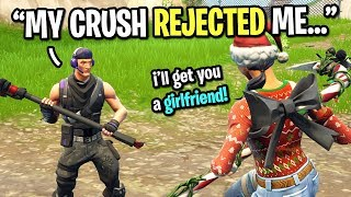 4th grader got REJECTED by his CRUSH so I helped him get a girlfriend on Fortnite...