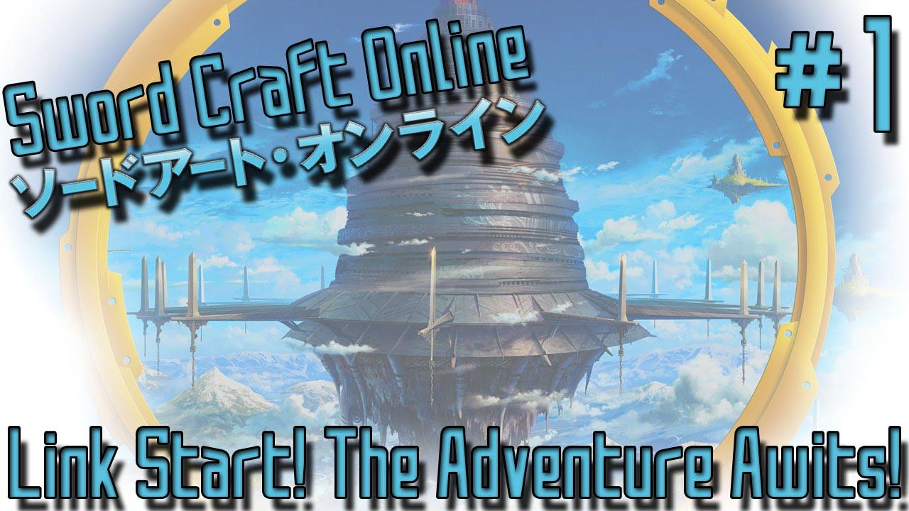 LINK START! THE ADVENTURE AWAITS! | Sword Craft Online (Minecraft Public Server) - Episode 1