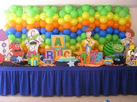 Decoracion con globos para fiestas infantiles youtube for Ideas para cortinas infantiles