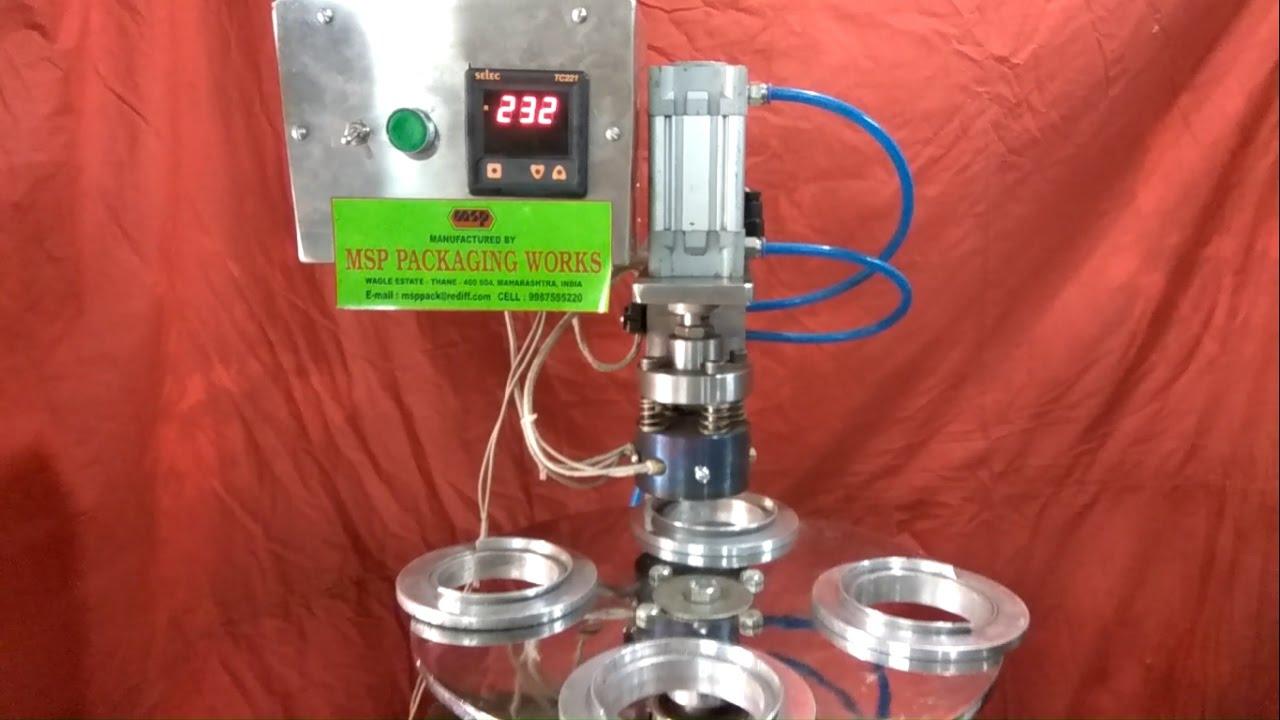 Semi Automatic Glass Aluminium Foil Heat Sealing Machine