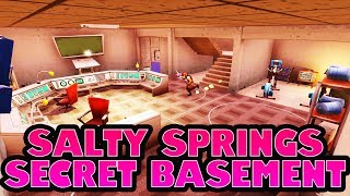 NOUVEAU emplacement coffre caché! - Salty Springs Saison 4 Secret Bunker Fortnite Location Guide
