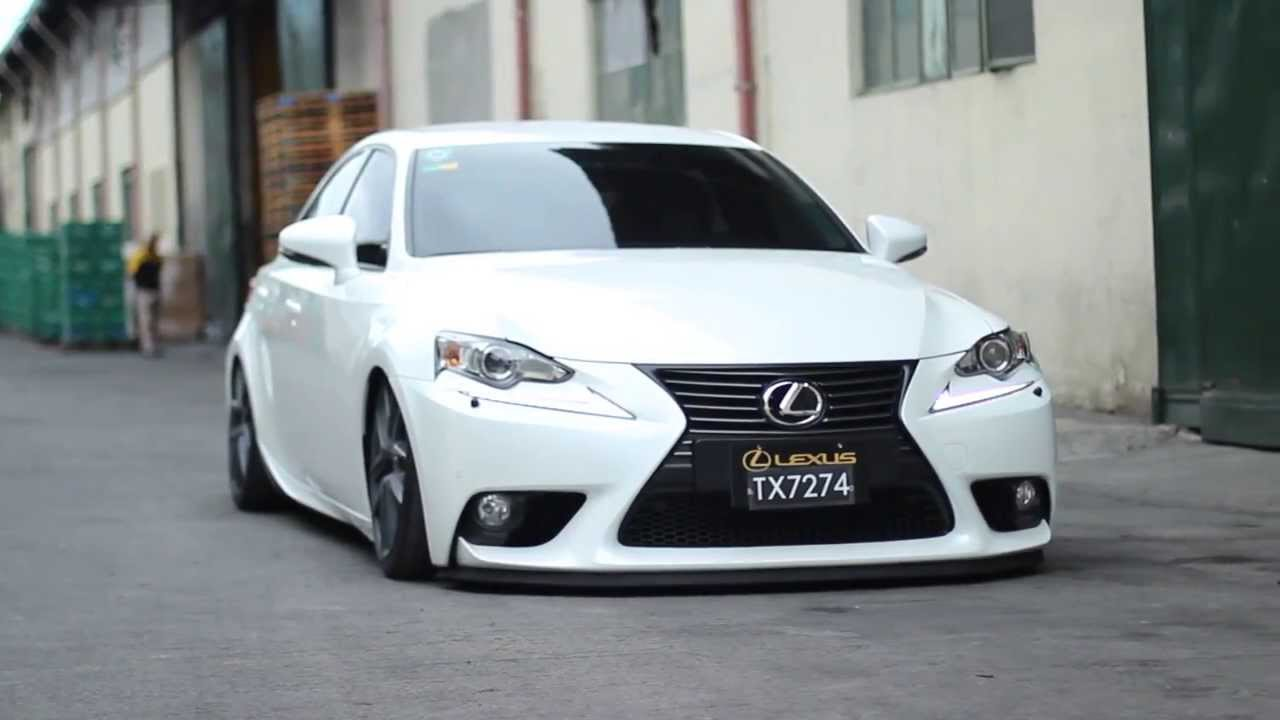 Car Porn Racing Lexus IS350 Bagged And Dropped YouTube