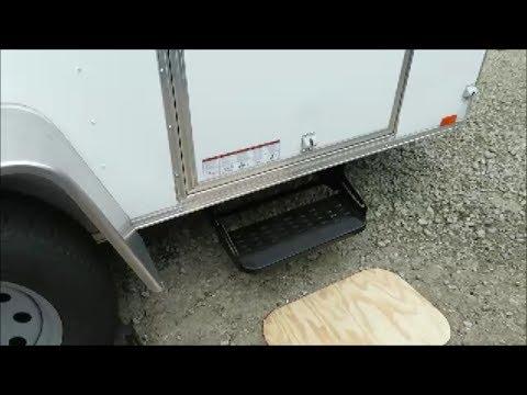 Cargo trailer step install