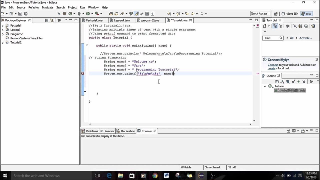Java programming tutorial 2 formatted output with printf youtube baditri Choice Image