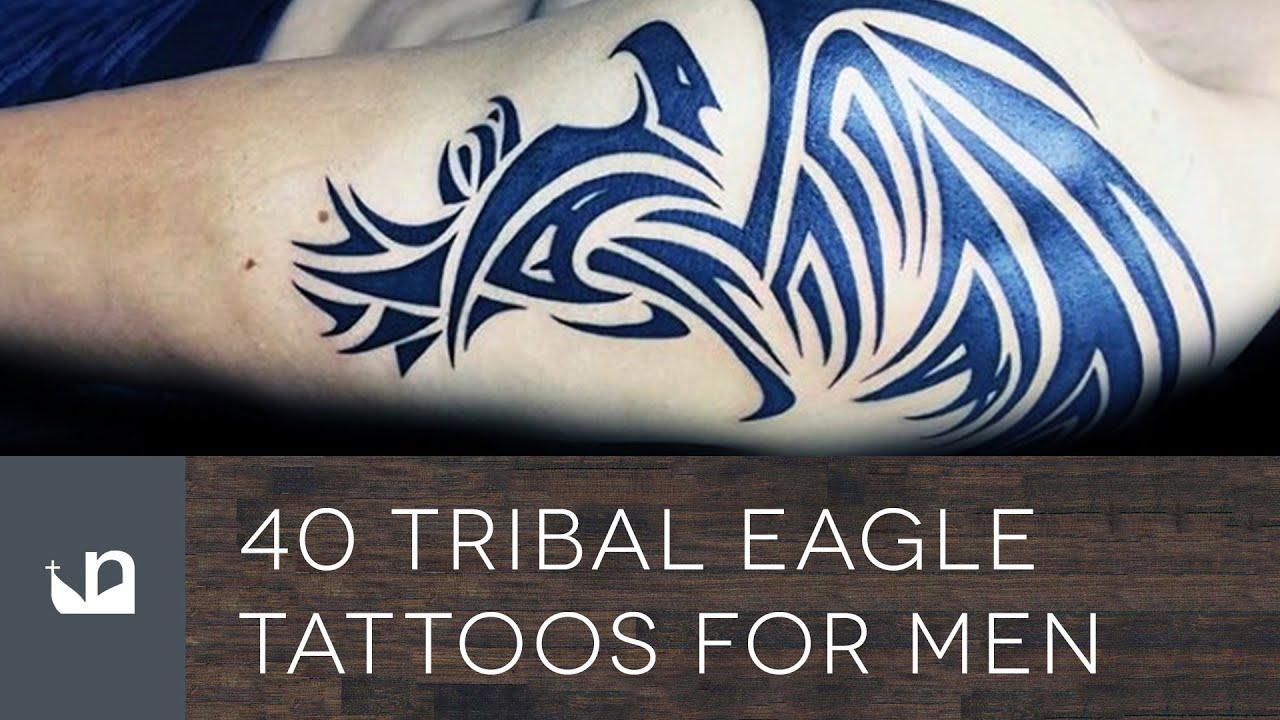 40 tribal eagle tattoos for men youtube for Tribal eagle tattoos
