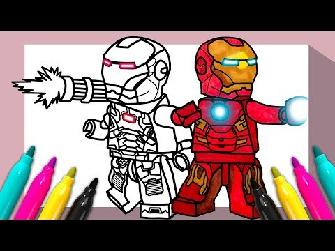 Lego Iron Man War Machine Coloring Page Coloring For Kids Youtube