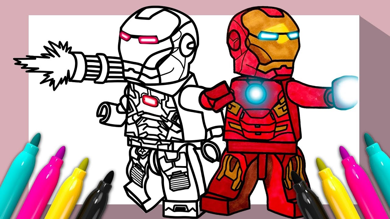 LEGO Iron Man War Machine Coloring page  Coloring for Kids