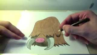 Drawing all the Pokemon: Number 221 Piloswine