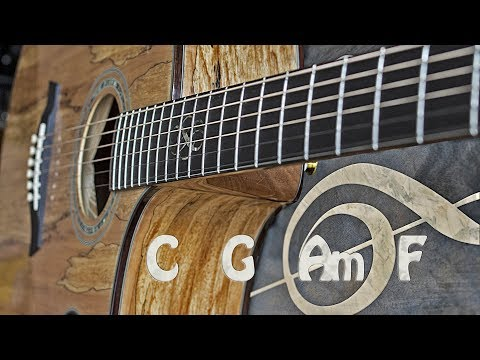 Acoustic Rock Guitar Backing Track C Major
