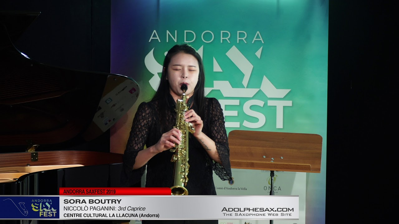 Andorra SaxFest 2019 1st Round   Sora Boutry   3rd Caprice by Niccolo Paganini