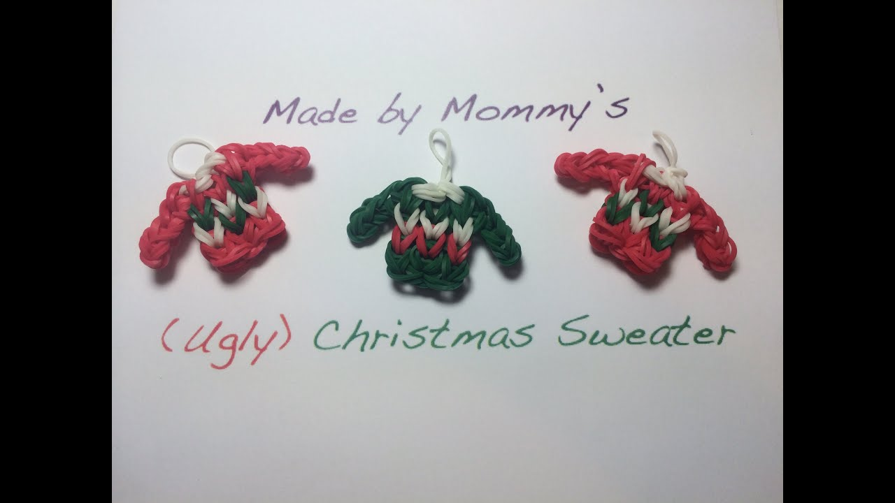 Ugly Christmas Sweater Charm on the Rainbow Loom - YouTube