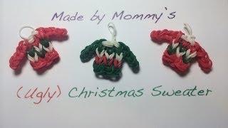 Ugly Christmas Sweater Charm on the Rainbow Loom