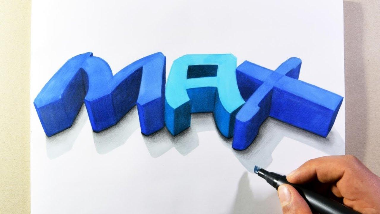 3d Graffiti Buchstaben Zeichnen Youtube