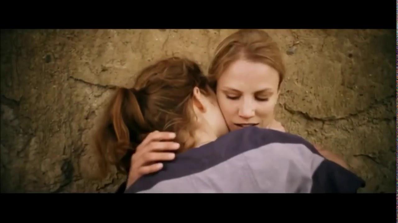 Intense lesbian kissing