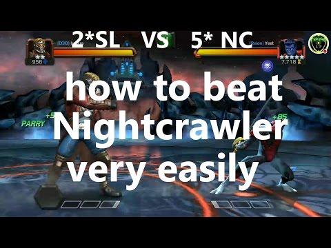 how to beat nightcrawler marvel contest of champion
