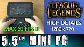 1# GPD Win League of Legends (PC) MAX 60FPS !!! Portable Handheld Gaming Mini PC Intel X7 Z8700