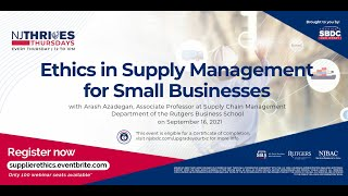 NJTT #019: Ethics in Supply Management for Small Businesses