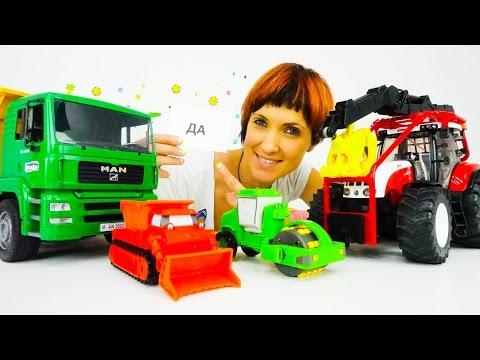 Видео для детей. Грузовичок Лева, машинки Боб Строитель едут в Детский Сад Капуки Кануки