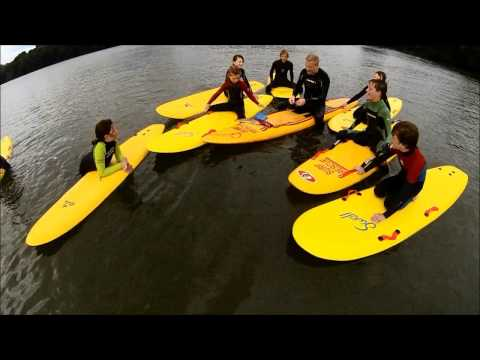 Nippers paddle the river Fal