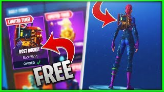 "How to get the ""RUST BUCKET"" for FREE in Fortnite Battle Royale // NEW ""Free"" Back Bling in Fortnite"