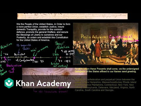 Birth of the US Constitution | US History | Khan Academy