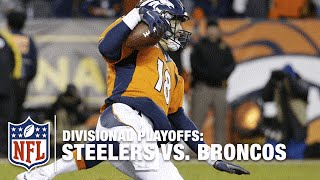 Peyton Manning Dives to Avoid Sack, Gets Up, Throws for Huge Gain!    Steelers vs. Broncos   NFL