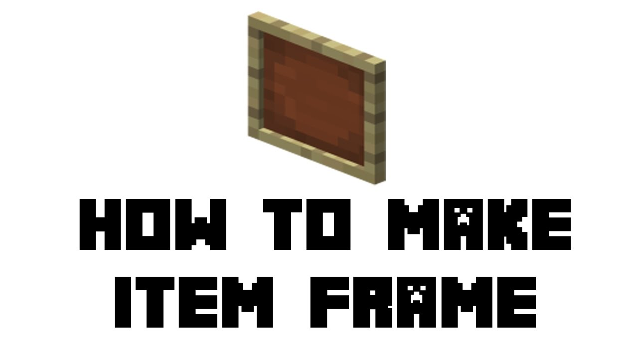 Minecraft Survival: How to Make Item Frame - YouTube