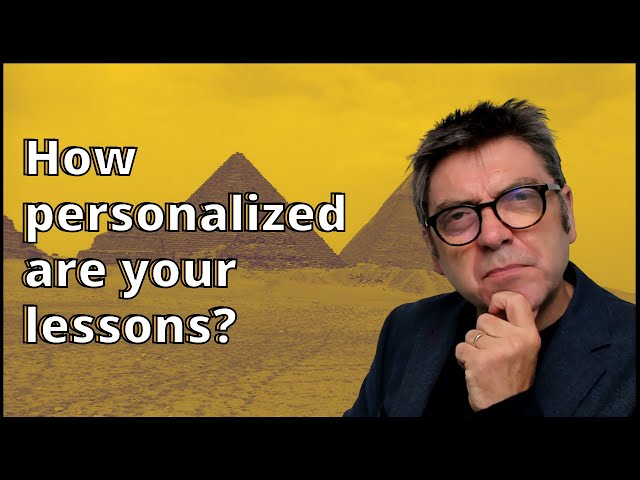 How Personalized Are Your Lessons?