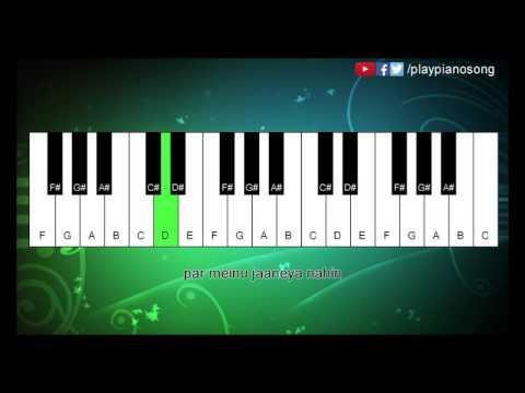 Mileya Mileya - ( Happy Ending ) - Easy Piano Tutorial