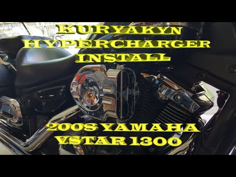 Kuryakyn hypercharger install on 2008 yamaha vstar 1300 how to