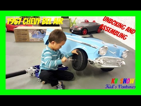 Unboxing and Assembling The Toy Surprise! Power Wheel Ride On 1957 Chevy Bel Air 12 Volt